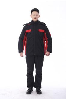 黑马系列冬款棉衣-9803黑红